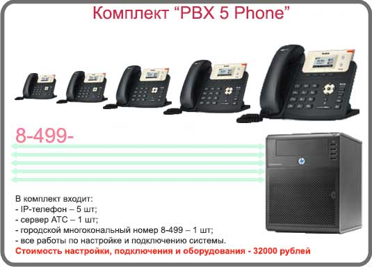 Комплект «PBX 5 CISCO Phone»